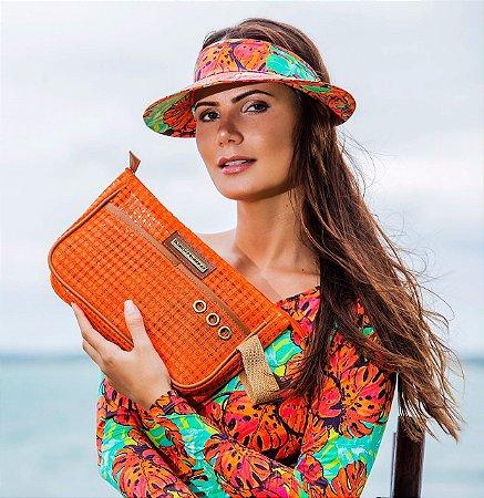 Necessaire de praia laranja tela ótima