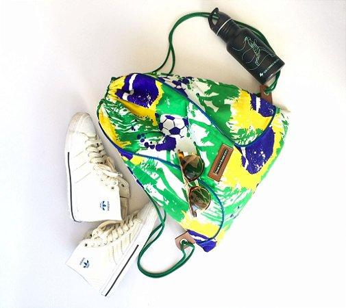 Mochila de tecido estampa Brasil