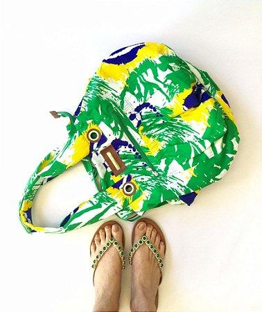 Bolsa grande estampa Brasil Madre