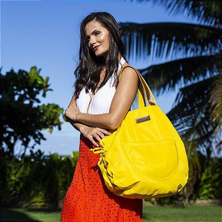 Bolsa grande amarela nylon Bel