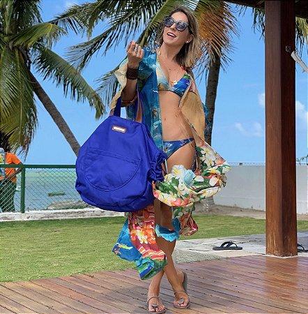 Bolsa Grande Azul Nylon Bel