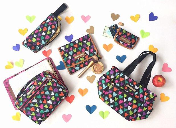Super Kit dia dos Namorados com 5 bolsas estampa Corações