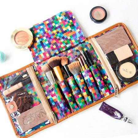 Porta Maquiagem estampa Digital