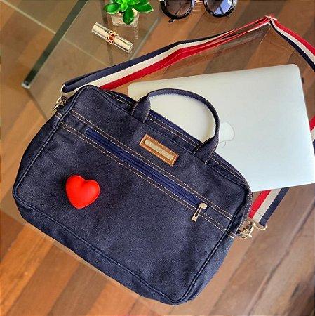 Bolsa para Notebook em Jeans