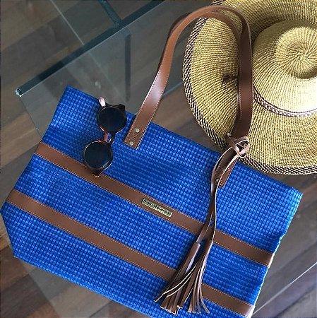 Bolsa de Praia Azul de Tela Barca