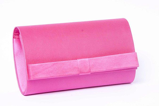 Carteira de festa pink laço finíssimo