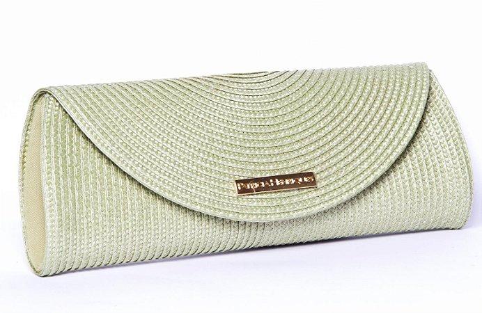 Clutch de Palha Verde Colorama