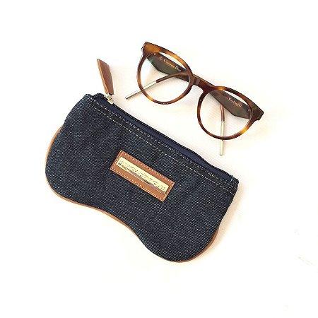 Porta oculos jeans