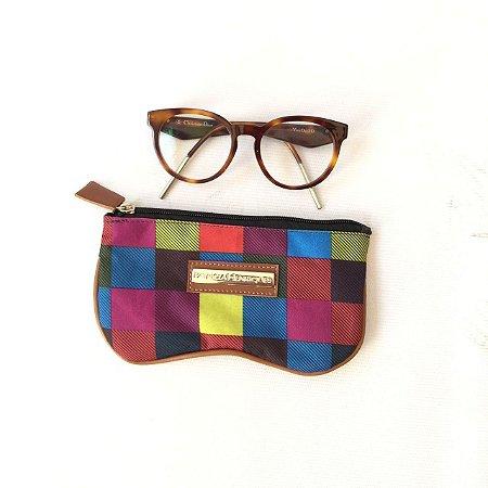 Porta Óculos estampa Xadrez
