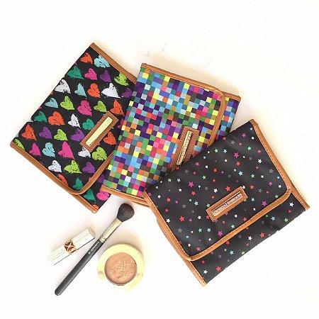 Porta Maquiagem Kit com 3 Estampas