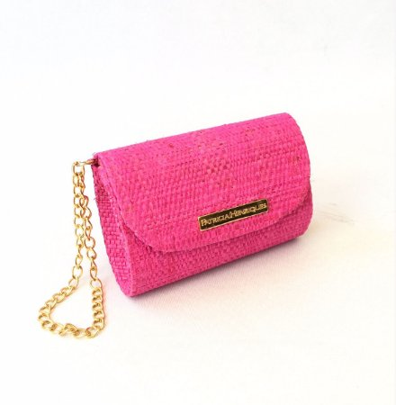 Clutch de palha pink Fat