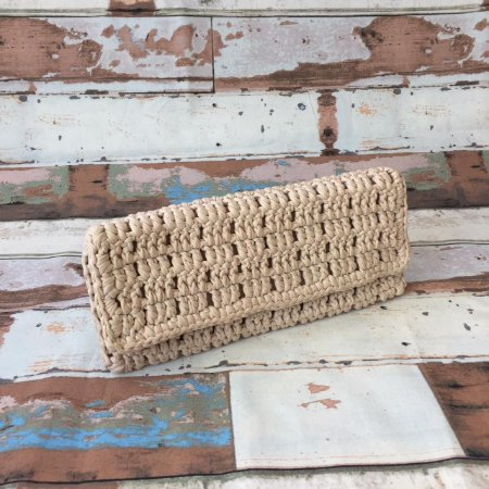 Clutch em crochet Maxi