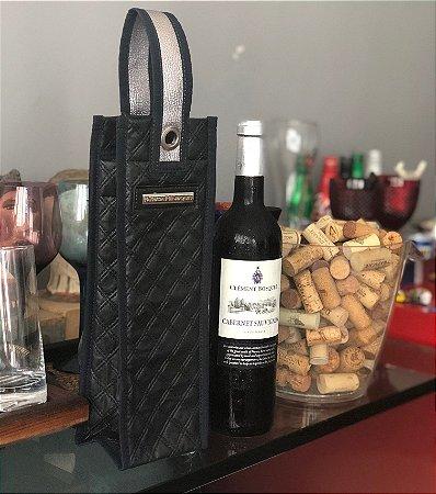 Porta Vinho Térmico em Metalasse Preto