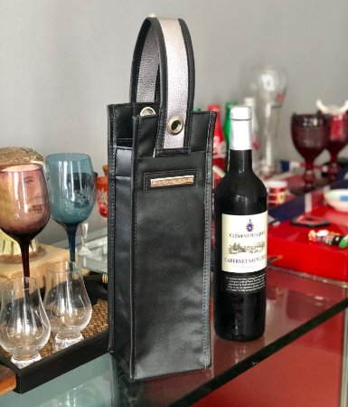 Porta Vinho Térmico Preto