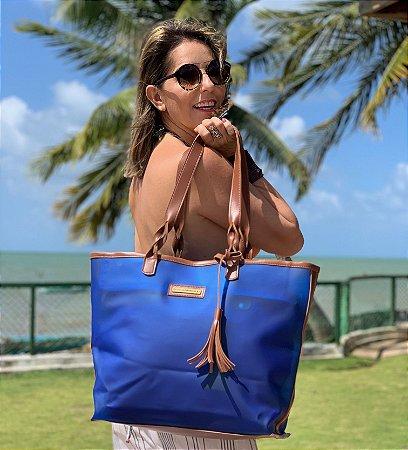 Bolsa Impermeável azul Dupla Plástico