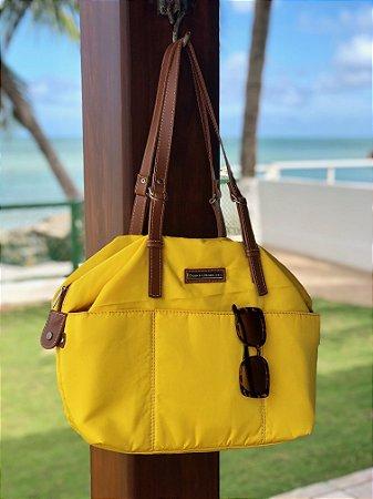 223d4eb635 Bolsa feminina tecido nylon amarela summer - Patricia Henriques