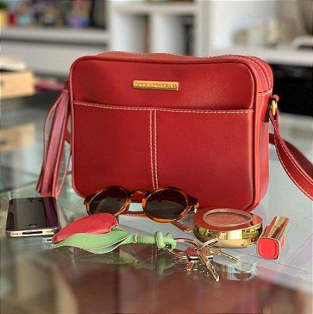 Bolsa de couro Vermelha Perfect