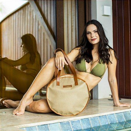 Bolsa redonda Nude Tela Grande