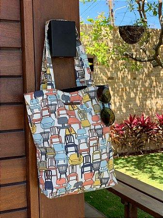 Bolsa de Tecido Estampa Cadeira Stamp