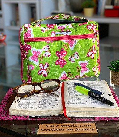 Bíblia Tamanho G - Borboletas verde