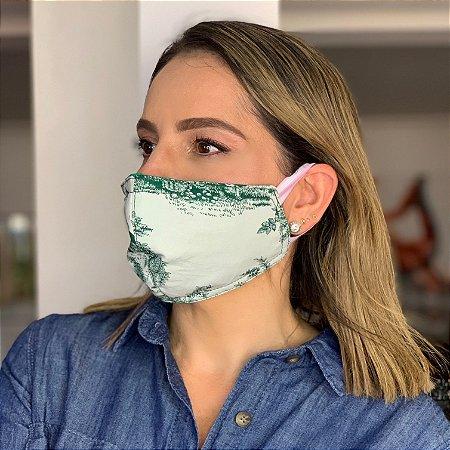 Máscara de Tecido  Dupla Face Estampa Toile