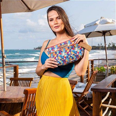 Necessaire de praia tela ótima estampa verão colorido