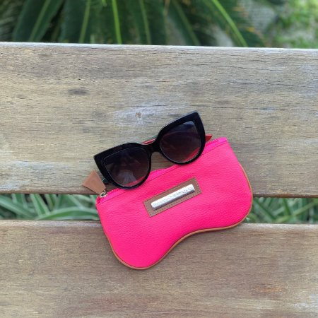 Porta Óculos Estampa Rosa
