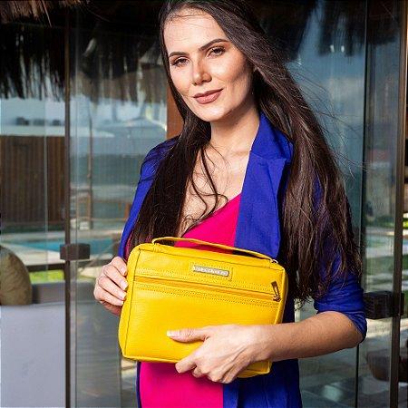 bolsa para bíblia couro ecológico amarela