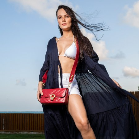 Bolsa de couro vermelha Elegance