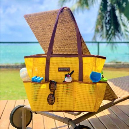 Bolsa Maternidade Praia amarela Tela Mãe
