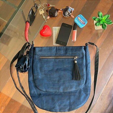 Bolsa de praia tela azul Luna