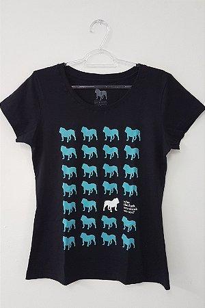 Camiseta Feminina - Grade de Dogs - Com frase