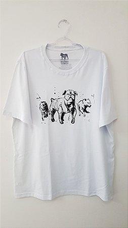 Camiseta Unissex - 3 Dogs Branca