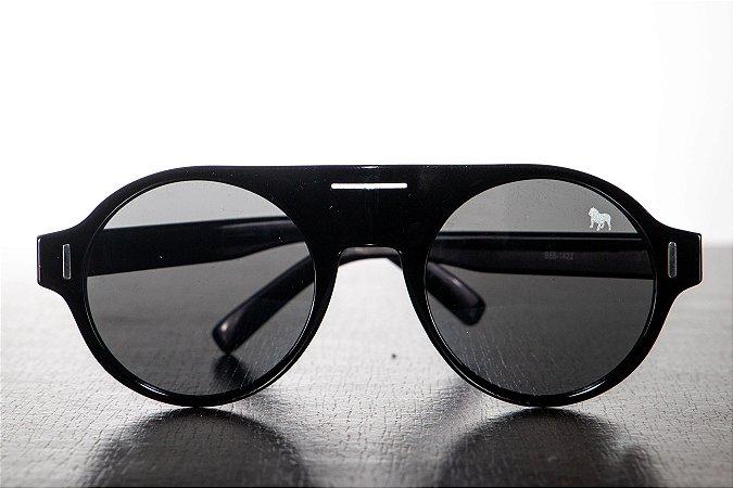 Óculos de Sol Redondo - Preto