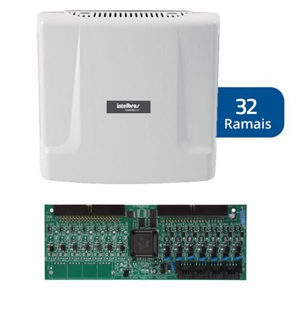 Kit Central de Interfone Condomínio com 32 Ramais - Intelbras Comunic 48 + Placa Desbalanceadas