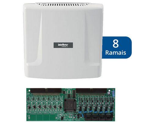 Kit Central de Interfone Condomínio com 8 Ramais - Intelbras Comunic 16 + Placa Desbalanceada