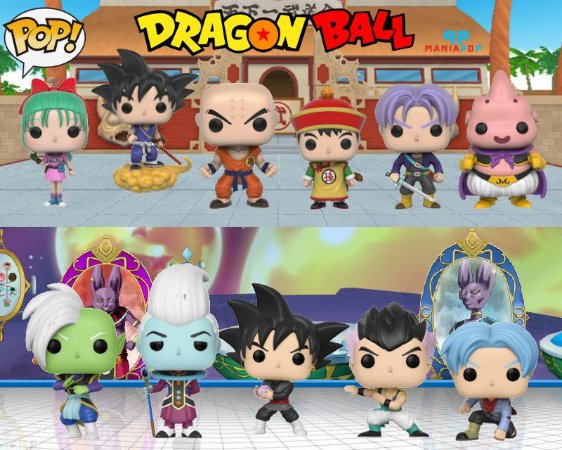 Funko Pop - Dragon Ball - Goku ou Krillin ou Gohan ou Bulma ou Trunks