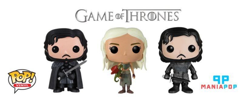Funko Pop - Game of Thrones - Jon Snow ou Daenerys Targaryen
