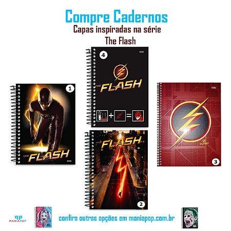 Caderno Universitário Capa Dura 96 folhas - The Flash - DC Comics - Vendidos Separadamente