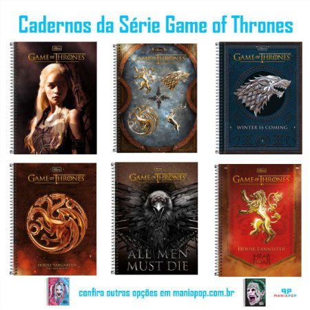 Caderno Universitário 96 folhas - Game of Thrones