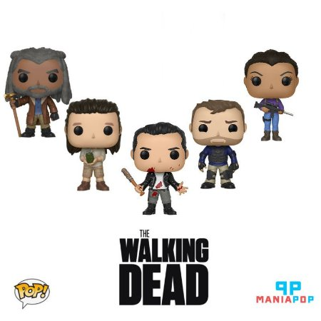 Pacote Funko Pop - The Walking Dead - 5 personagens