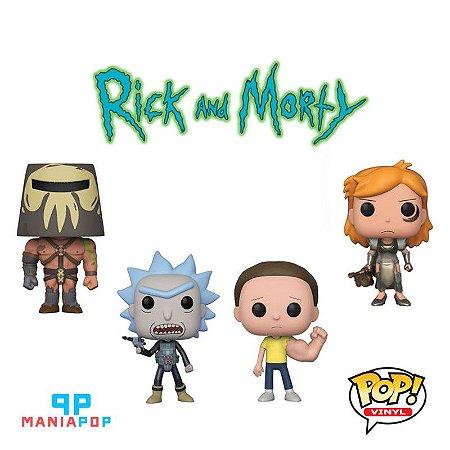 Funko Pop - Rick and Morty - Coleção 4 - Vendidos Separadamente