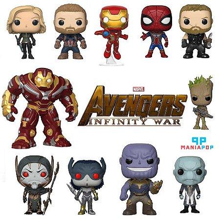 Pacote de Funko Pop - Vingadores Guerra Infinita - Marvel