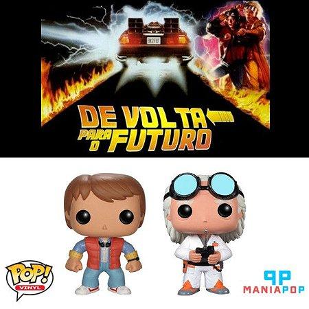 Funko Pop - De Volta para o Futuro - Marty McFly ou Doutor Brown