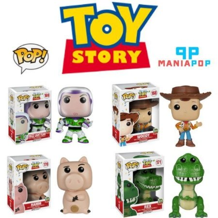 Funko Pop - Toy Story - Woody ou Buzz ou Porquinho ou Rex - Disney