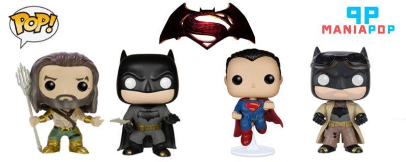 Pacote Funko Pop - Batman vs Superman A Origem da Justiça (4 unidades)