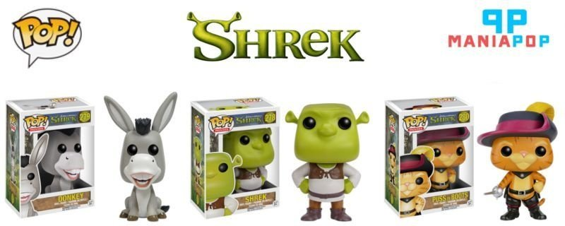 Funko Pop - Shrek ou Gato de Botas ou Burro