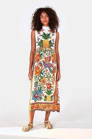 Vestido Farm Silk Abacaxi