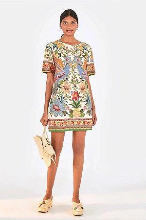 Vestido T-Shirt Farm Flor de Arara