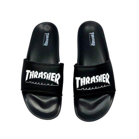 Chinelo Slide Thrasher Skate Magazine